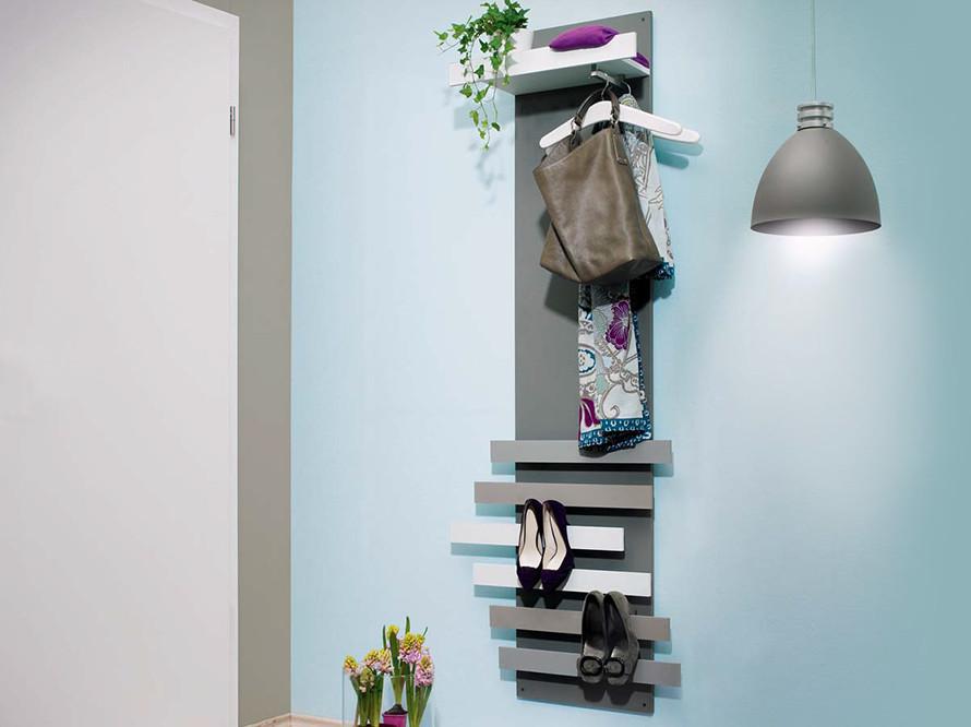 Toom kreativwerkstatt garderobe hut ab for Garderobe idee