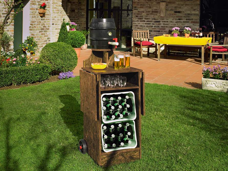Toom kreativwerkstatt gartenbar oase for Gartenbar selber bauen