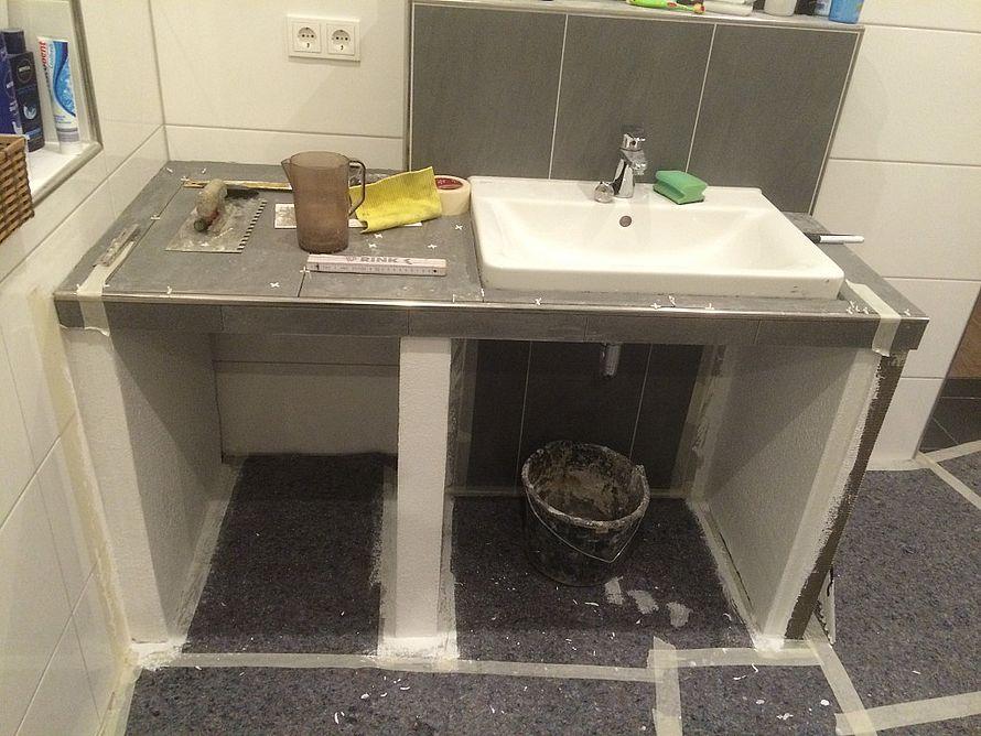 Waschtisch selber bauen ytong  toom Kreativwerkstatt - Waschtisch mit Fliesen