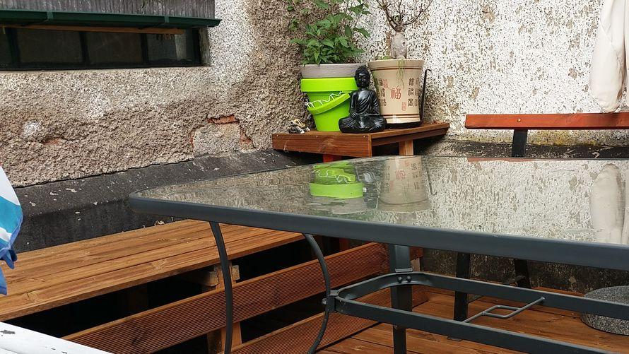 Holzdielen terrasse toom toom kreativwerkstatt meine oase for Toom baumarkt garten pool