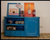 toom kreativwerkstatt blaue kommode. Black Bedroom Furniture Sets. Home Design Ideas