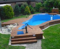 Toom kreativwerkstatt poolumrandung mit duschecke for Rasenkantensteine toom