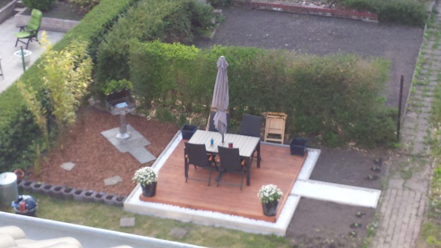 toom kreativwerkstatt eine terrasse mit umrandung. Black Bedroom Furniture Sets. Home Design Ideas