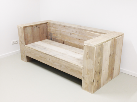 Couch reclaimed wood