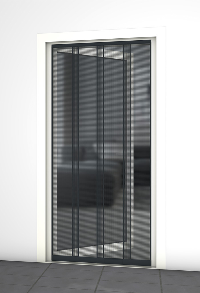 insektenschutz lamellenvorhang anthrazit 100x220cm toom baumarkt. Black Bedroom Furniture Sets. Home Design Ideas