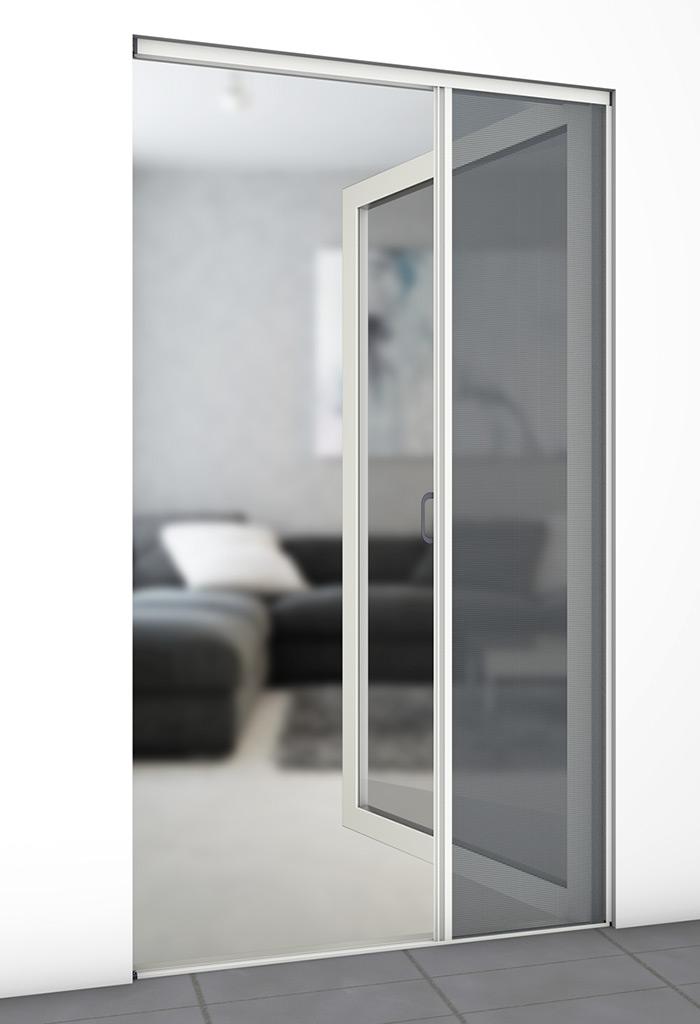 insektenschutz t ren plissee wei 125x220cm toom baumarkt. Black Bedroom Furniture Sets. Home Design Ideas