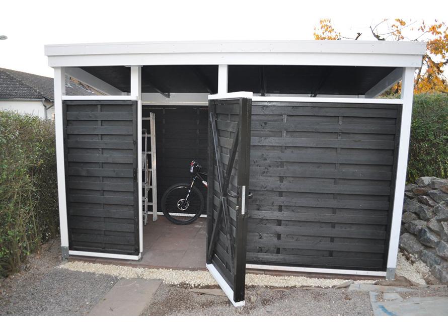 toom kreativwerkstatt fahrradschuppen. Black Bedroom Furniture Sets. Home Design Ideas