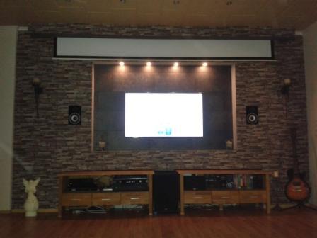 Toom kreativwerkstatt kino und tv wand - Tv an wand anbringen ...