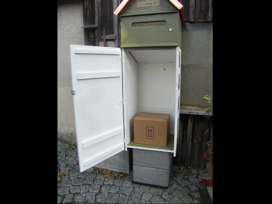 toom kreativwerkstatt briefkasten mit paketbox. Black Bedroom Furniture Sets. Home Design Ideas