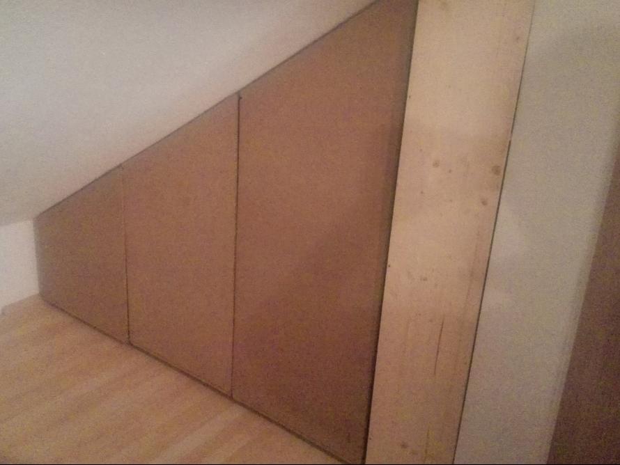 toom kreativwerkstatt einbauschrank f r dachschr ge. Black Bedroom Furniture Sets. Home Design Ideas