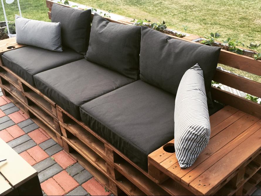 toom kreativwerkstatt palettenbank. Black Bedroom Furniture Sets. Home Design Ideas