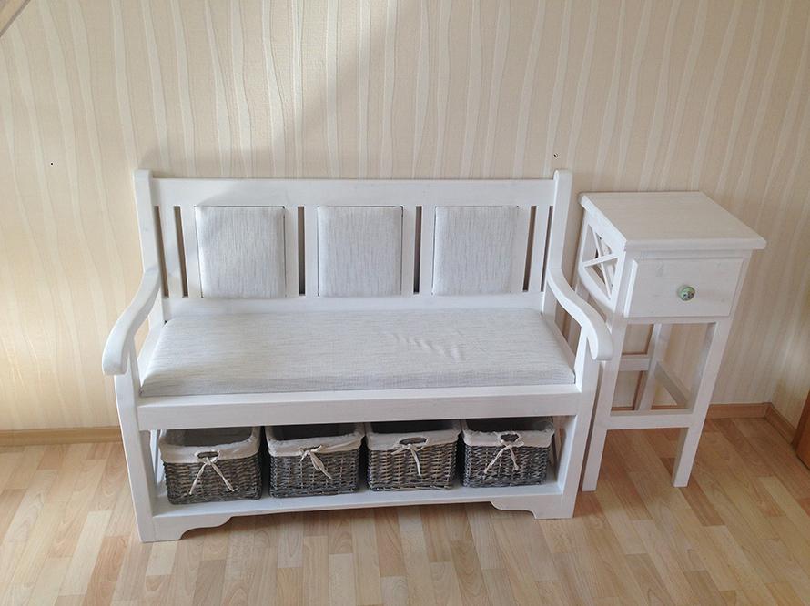 toom kreativwerkstatt sch ne flurbank landhaus. Black Bedroom Furniture Sets. Home Design Ideas