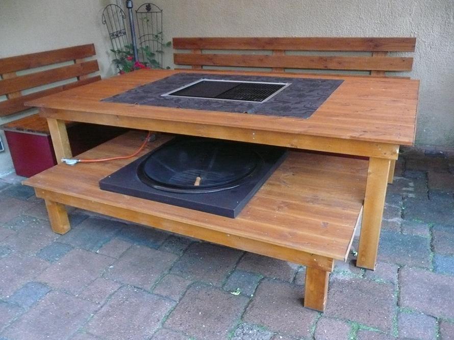 toom kreativwerkstatt riesen grilltisch mit integrierter feuerstelle. Black Bedroom Furniture Sets. Home Design Ideas
