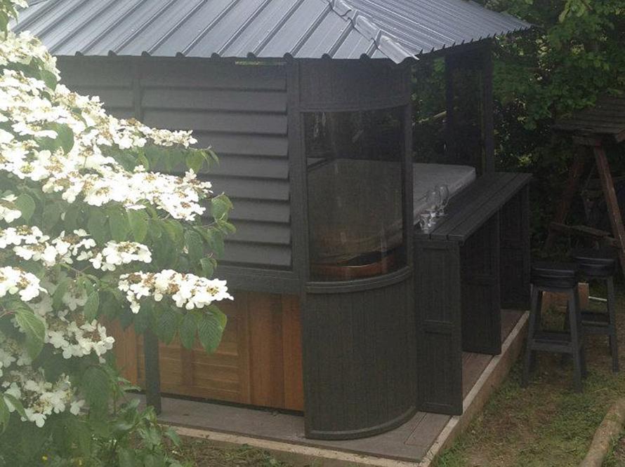 toom kreativwerkstatt gartenpavillon f r pool. Black Bedroom Furniture Sets. Home Design Ideas